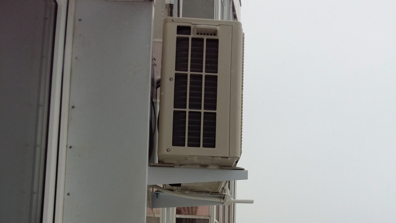 Установка кондиционера Fujitsu ASYG07LLCD/AOYG07LLCD. Внешний блок