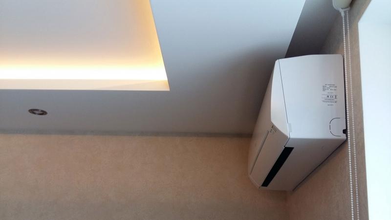 Установка кондиционера Fujitsu ASYG07LLCD/AOYG07LLCD. Вид сбоку