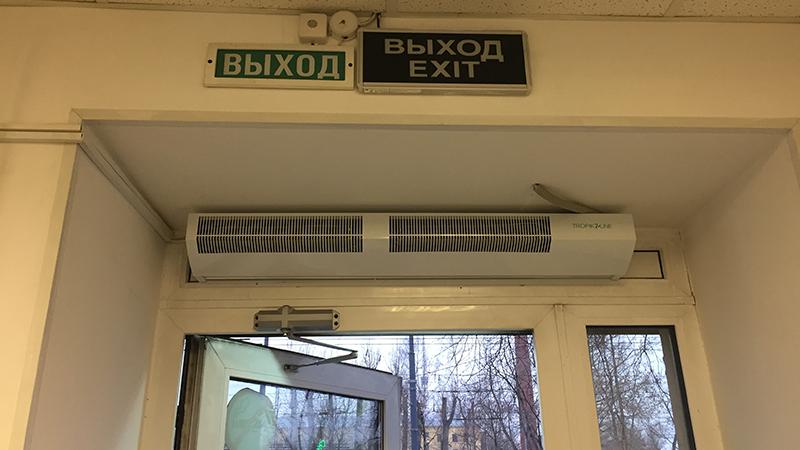 Монтаж тепловой завесы Тропик Т103Е10